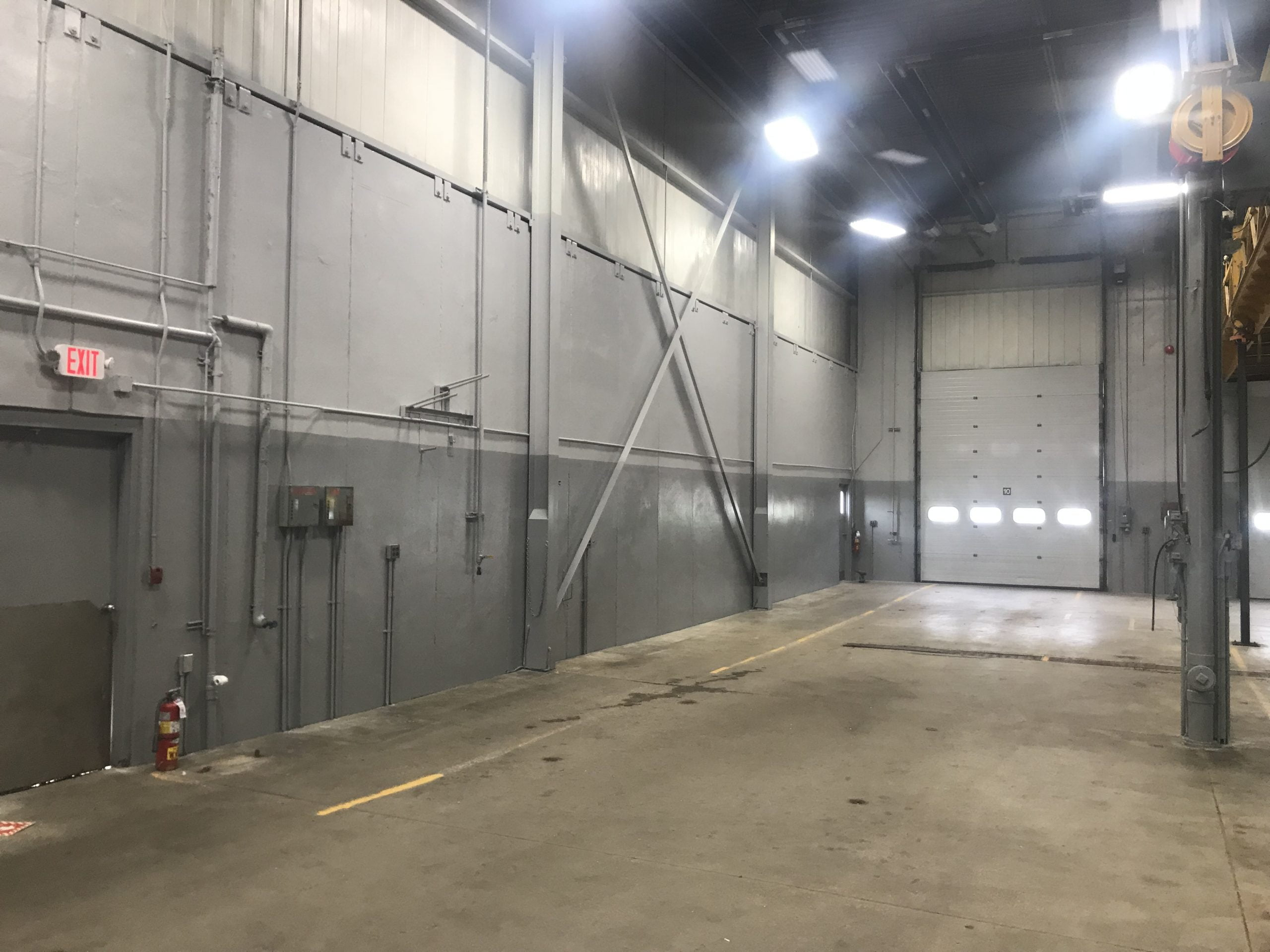 Commercial Garage After Commercial Painting, Industrial Cleaning, And Dry Ice Blasting