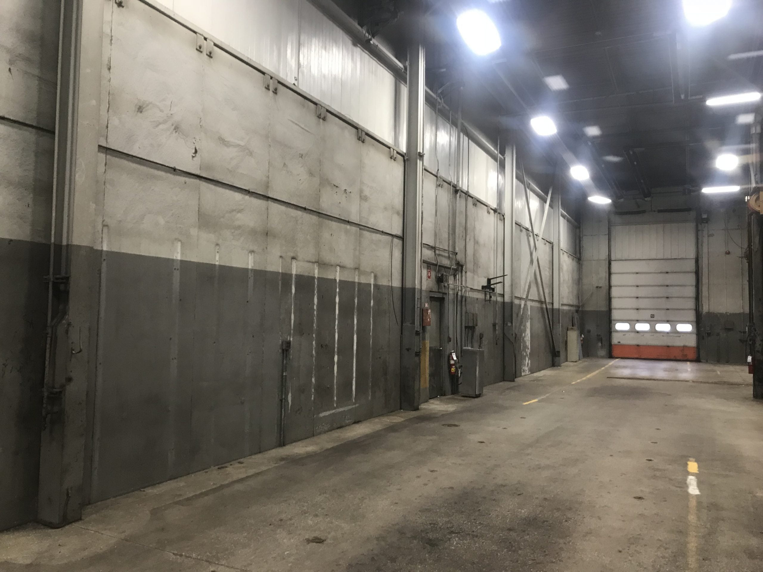 Commercial Garage Before Commercial Painting, Industrial Cleaning, And Dry Ice Blasting