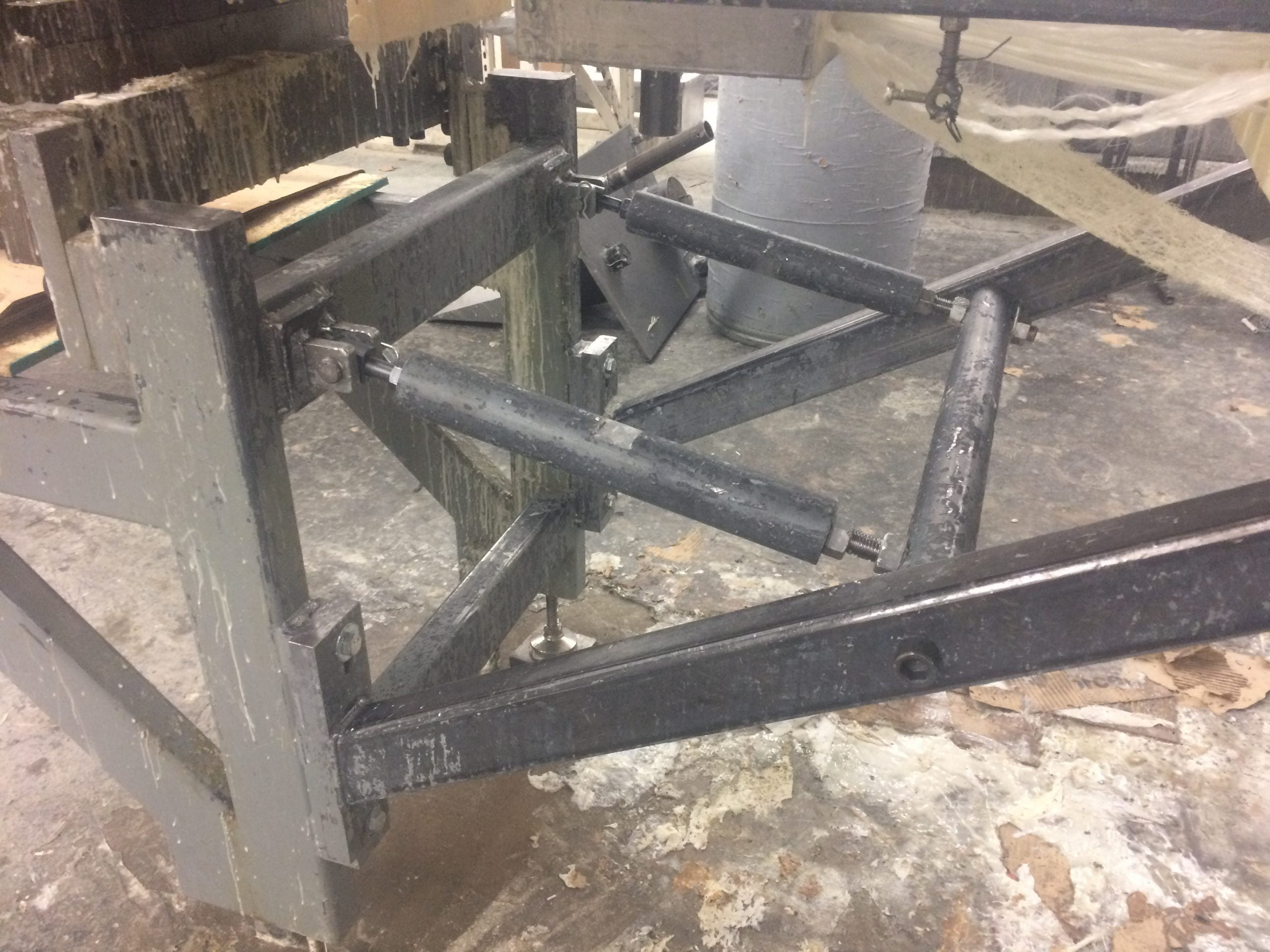 Pultrusion After Industrial Cleaning With Dry Ice Blasting And Machine Restoration