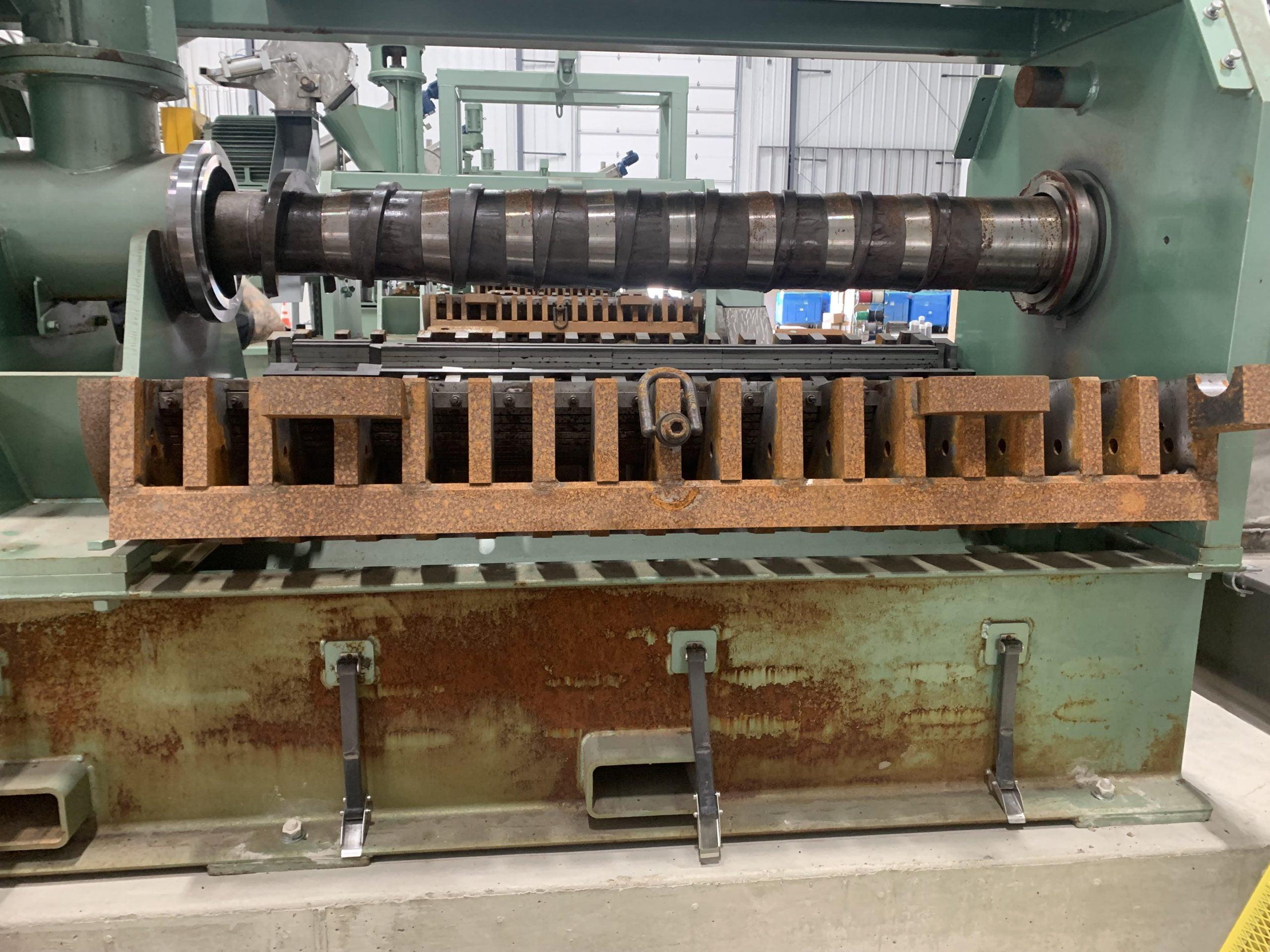 Rusty Machine Before Dry Ice Blasting And Machine Restoration