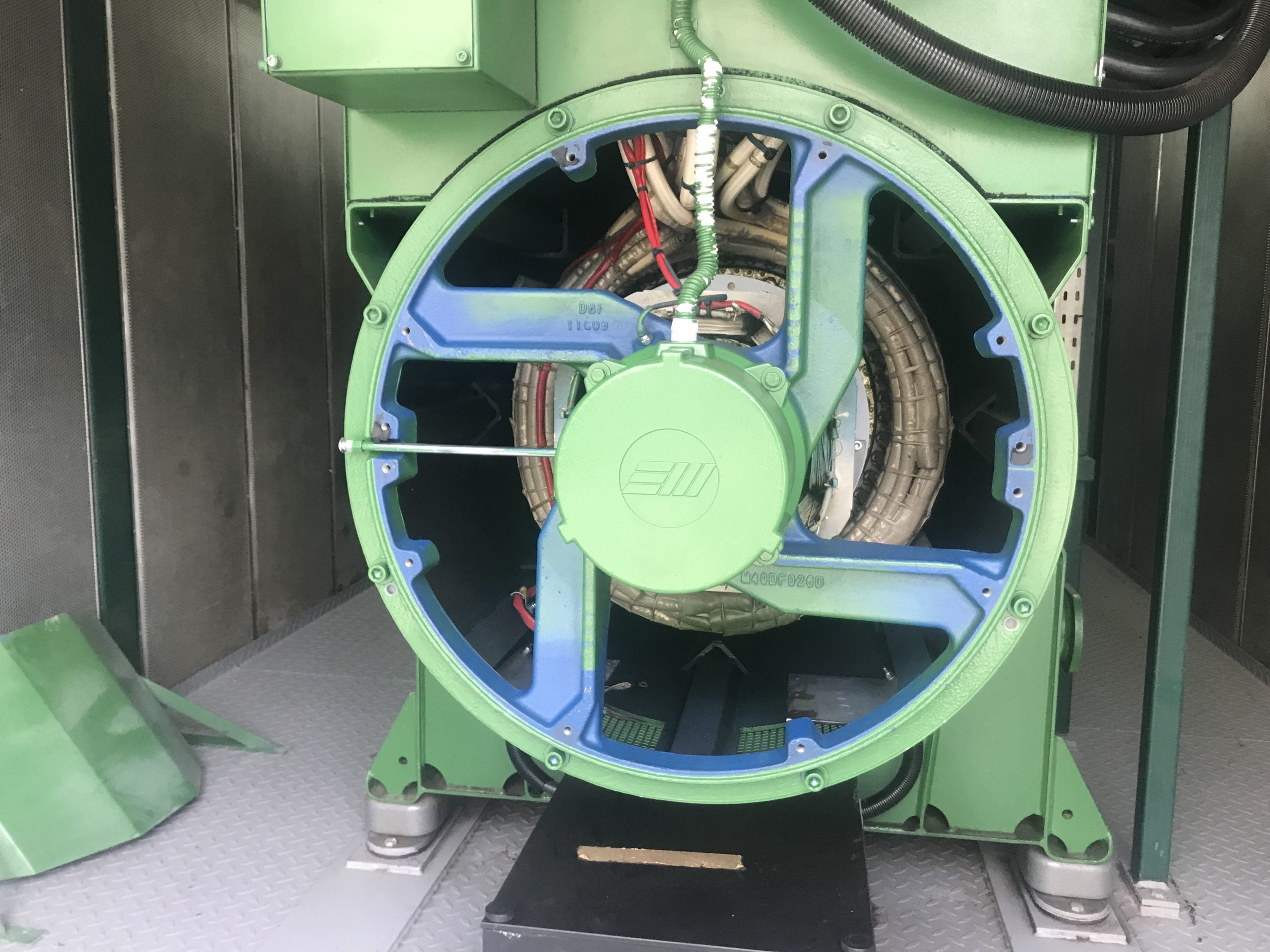 Clean Fan After Dry Ice Blasting And Machine Restoration